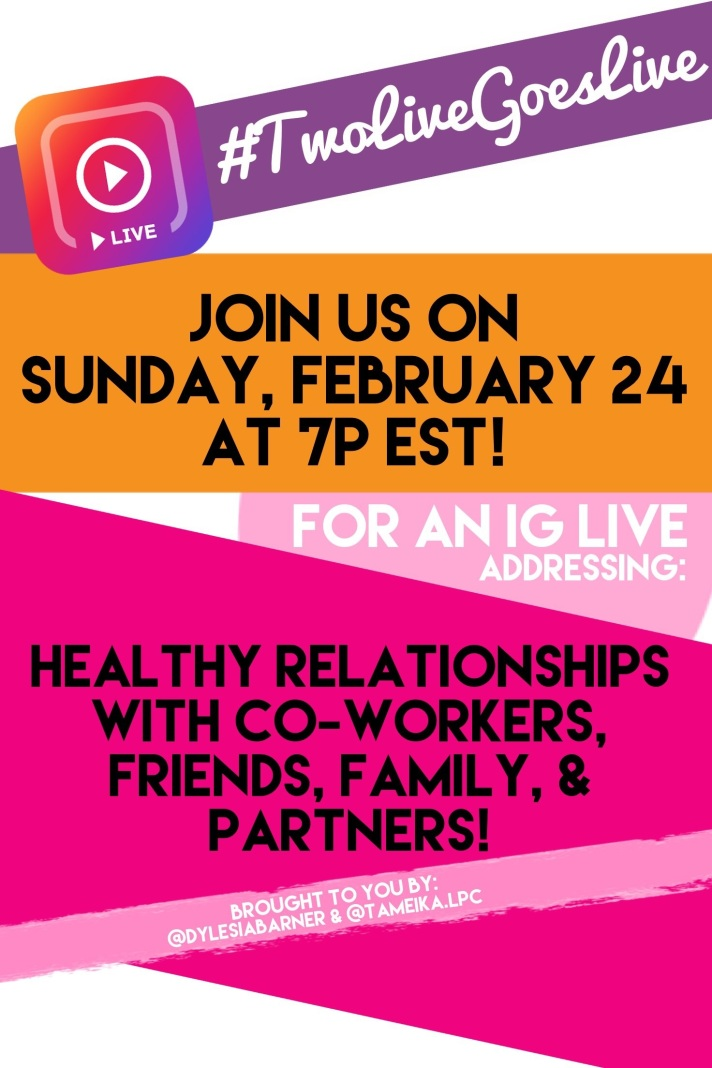 Healthy Relationships IG Live Flier